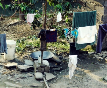 Pump and washing area